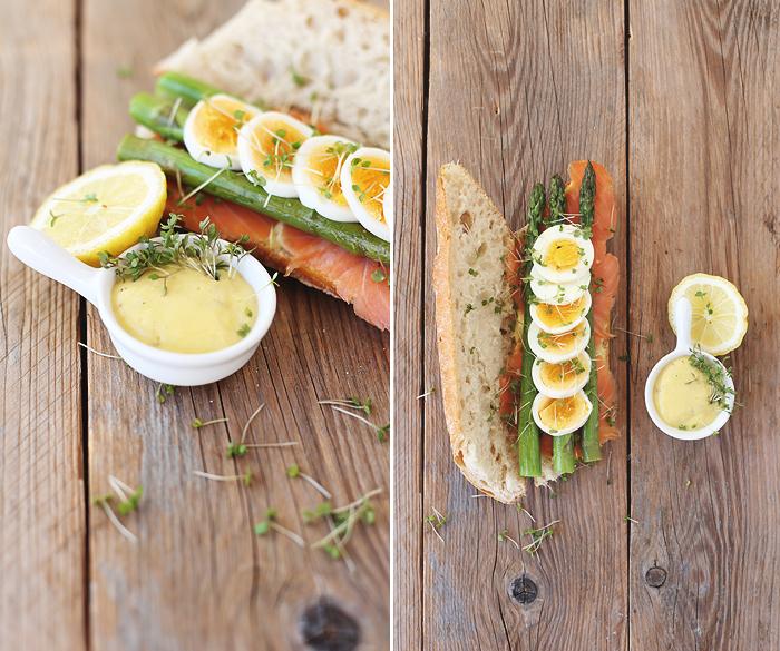 Spargel Baguette Lachs Ei Zitronen-Mayo