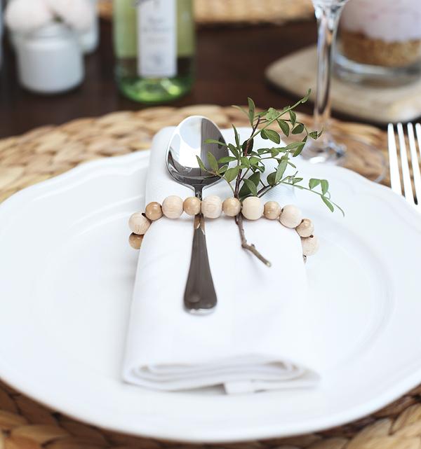 Tischdeko Serviettenring Blanchet Wein