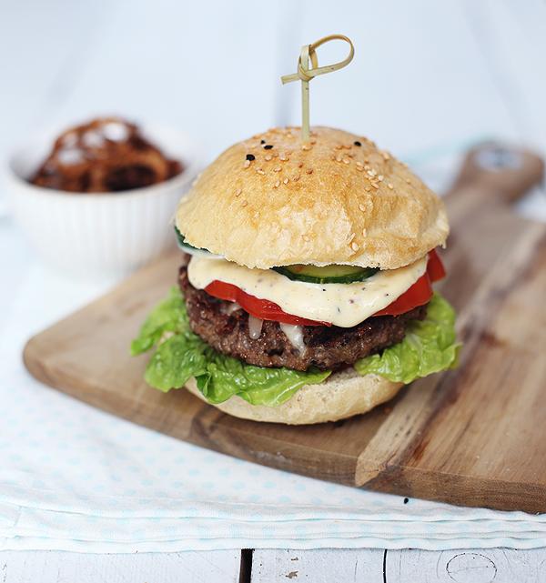 Burger Buns Bun selbstgemacht Rezept