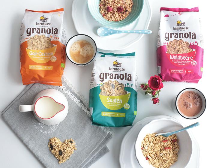 Barnhouse Granola Goji-Cashew Waldbeere Saaten Müsli Frühstück Bio Naturprodukt Naturkost