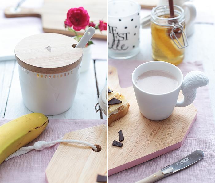 Bananen Toast Honig Schokolade Geschenkidee