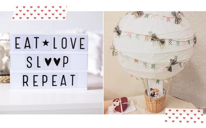 Geldgeschenk zur Hochzeit: Heißluftballon