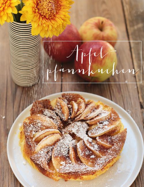 Apfelpfannkuchen Pfannkuchen Apfel Äpfel Zimt Zucker glutenfrei