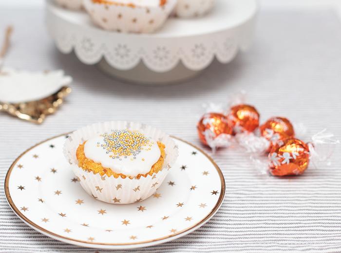 Möhrenmuffins mit Schokokern Schokofüllung Möhren Muffins Karotten