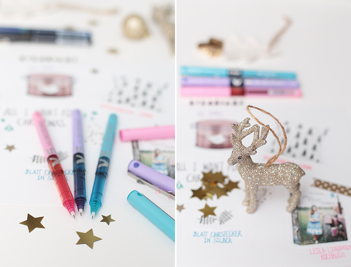 Wunschzettel Weihnachten Pilot Pen V5 V7
