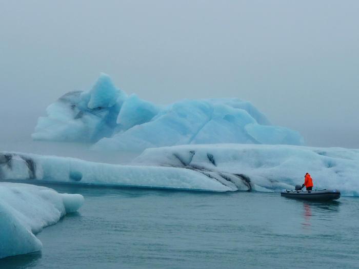 Island Gletscher Jökulsárlón Reiseglück