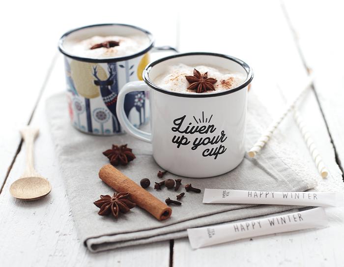 chai tea latte almond milk chai tee latte mit Mandelmilch