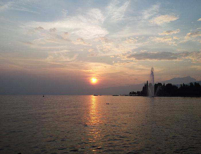 Reiseglueck Gardasee Bardolino travel Sonnenuntergang