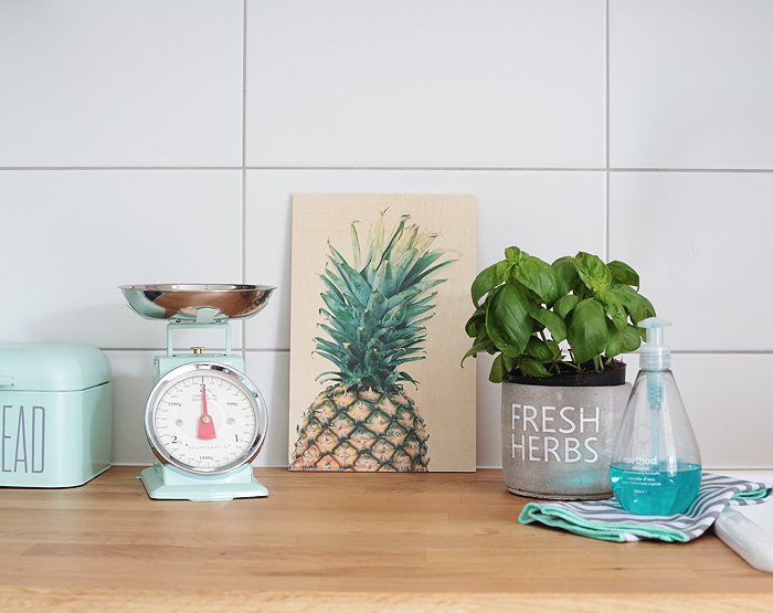 Küche Posterlounge Ananas Holzbild