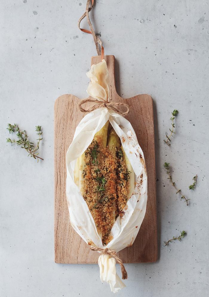 Ofenspargel mit Thymian Parmesan Kruste Spargel aus dem Ofen