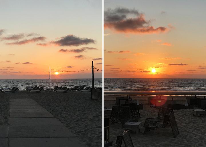 Noordwijk Strand Sonnenuntergang