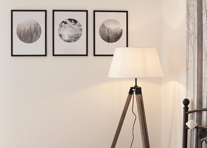 Schlafzimmer im Herbst Bilder Poster Stehlampe